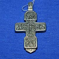 Мужской большой серебряный крест Вход благоразумного разбойника в рай КР-1