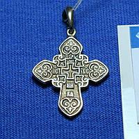 Серебряный крестик с чернением Ника КР-3