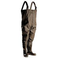 Рыбацкий полукомбинезон ПС 15 ПК, подошва трехкомпонентное литье, двойной шов, внутренний карман, карабины