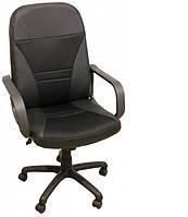 Кресло Анкор кожа сплит чёрная