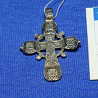 Серебряный православный крест Праздничный КР-5