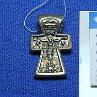 Крест нательный серебро черненое Богоявление КР-8