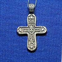 Серебряный крестик Голгофа с чернением КР-12