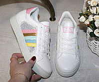 Кеды шнуровка, розовая пятка