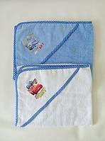 Полотенце для купания с уголком для мальчика Турция
