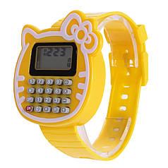 Наручний годинник з калькулятором Калькулятор-Кішка жовті