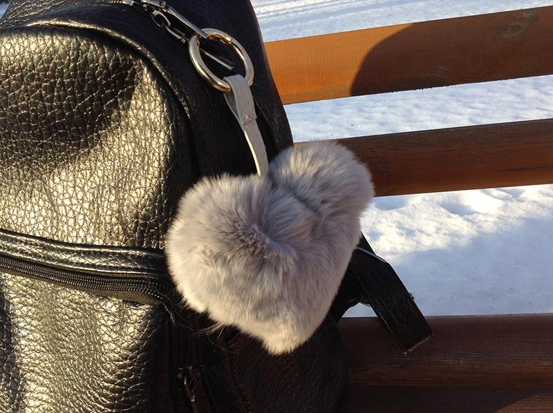 Брелок меховой Сердце Серый (натуральный мех) - Интернет-магазин подарков и товаров для дома Megusta в Киеве