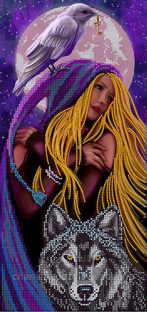 "Схема для вышивки бисером на атласе ""Блондинка луна"""
