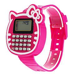 Наручний годинник з калькулятором Калькулятор-Кішка червоні