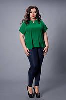 Блуза мод 500-5 размер 50,52,54,56,58 зеленая