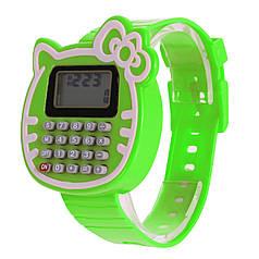 Наручний годинник з калькулятором Калькулятор-Кішка зелені
