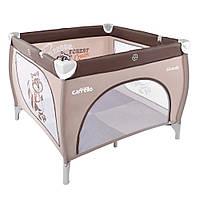 Детский манеж CARRELLO Grande CRL-7401 Brown+Beige