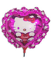 Воздушный шар Китти на палочке