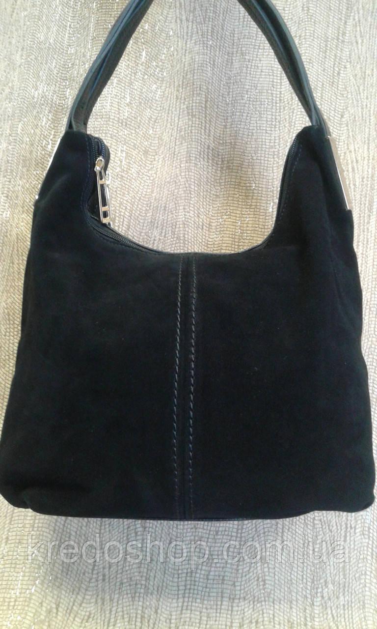 28d64f4b30f7 Сумка женская красивая замшевая черная,компактна. - Интернет-магазин сумок  и аксессуаров