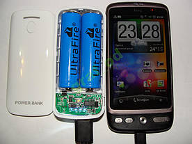 Power bank 5600 зарядное +фонарик зарядка