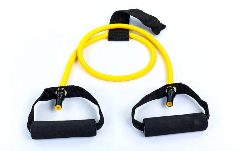 Эспандер для фитнеса трубчатый 4LB желтый FI-2659-Y