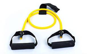 Эспандер для фитнеса трубчатый 4LB желтый FI-2659-Y, фото 2