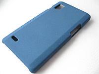 Пластиковый чехол LG Optimus L9 P760 / P765 (синий), фото 1