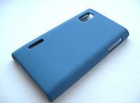 Пластиковый чехол LG Optimus L5 E610 / E612 / E615 (синий)