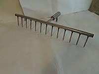 Грабли ручные из нержавейки- 60 см  (14 зубьев).