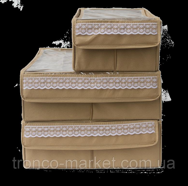 Комплект органайзеров из 3 шт с крышкой