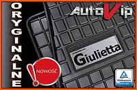 Резиновые коврики ALFA ROMEO GIULIETTA 10-  с логотипом