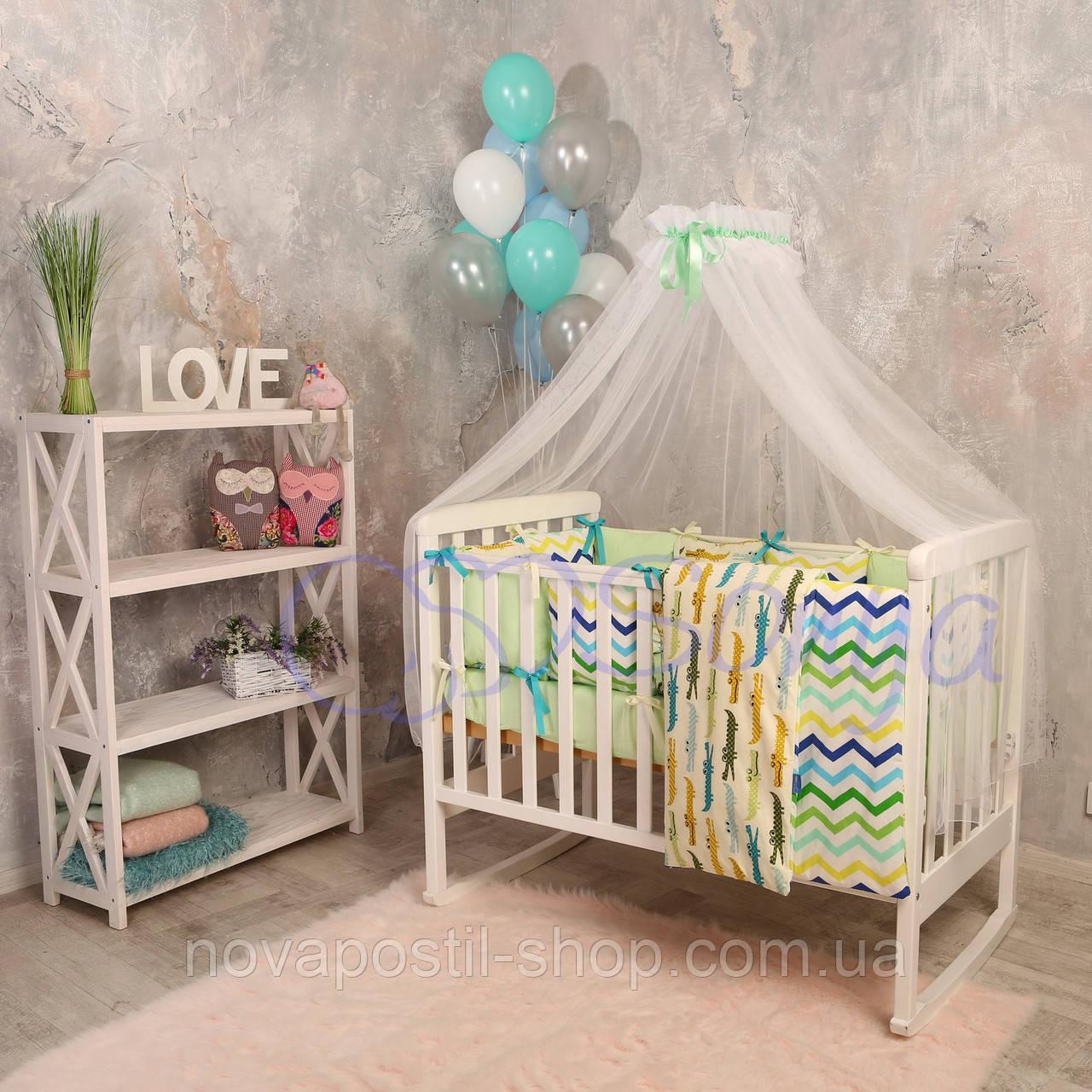 Набор в детскую кроватку Baby Design с крокодилами (7 предметов)