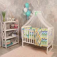 Набор в детскую кроватку Baby Design с крокодилами (7 предметов), фото 1