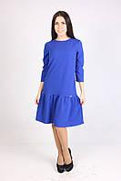Оригинальное платье с пышной юбкой цвета электрик