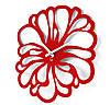 Большие Часы На Стену (48смх48см) Flower Красные [Акрил, Открытые]