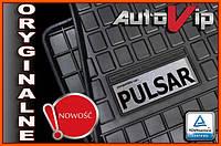 Резиновые коврики NISSAN PULSAR C13 2014-  с логотипом