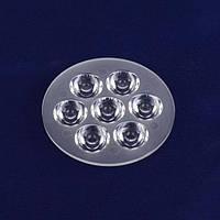 LED линза для 7-и светодиодов 1-3W 30° 69mm