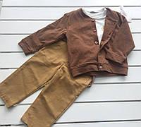 Детский костюм - кофта, батник , брюки - для мальчика на 9 - 18 месяца ,  на 1 год