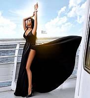 Платье женское длинное вечернее с глубоким декольте P5433