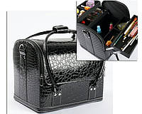 Чемодан, маникюрная сумка для мастера, кож.зам, лак, черный цвет