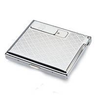 Металлический портсигар на 15 сигарет с встроенной электрической зажигалкой СЕРЕБРИСТЫЙ SKU0000601