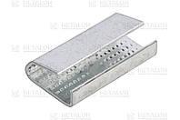 Скоба (зажим) 16 мм оцинкованная упаковочная для ПЭТ ленты