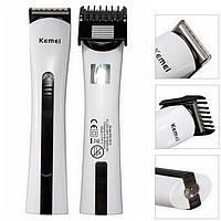 Триммер для бороды аккумуляторный, машинка для стрижки Kemei KM-2516