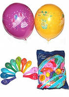 """Воздушные шарики пастель """"С Днем Рожденья"""" 10""""(25 см) оптом ТМ Gemar"""