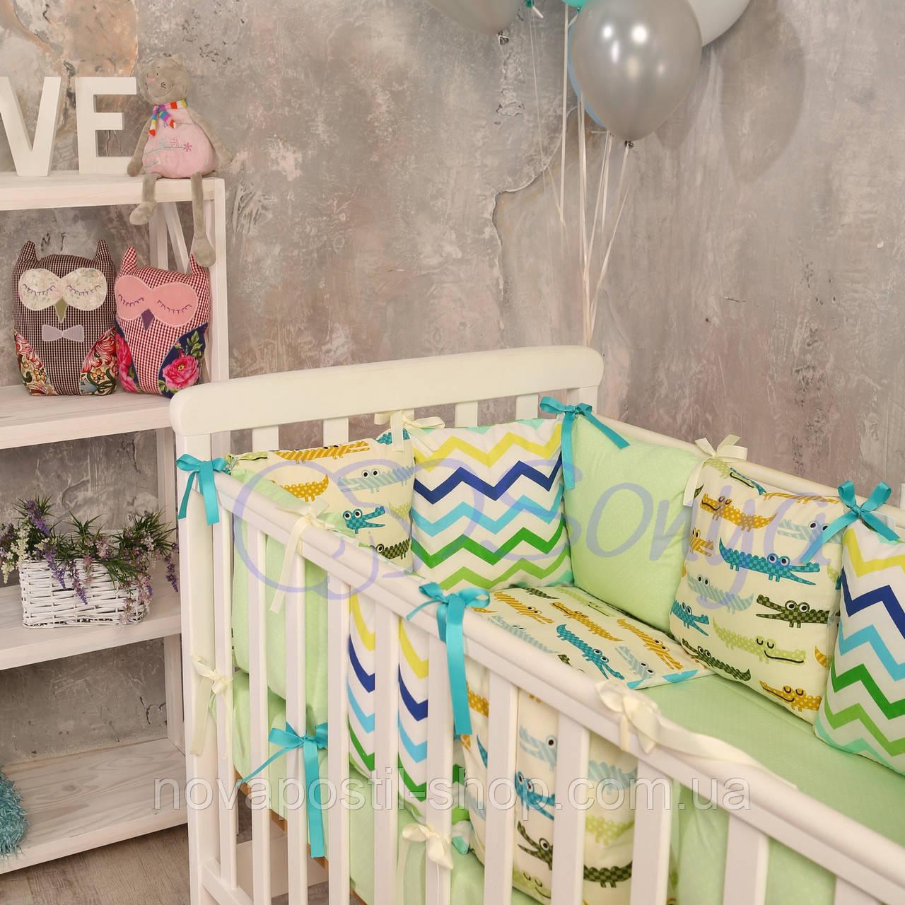 Набор в детскую кроватку Baby Design с крокодилами (6 предметов)