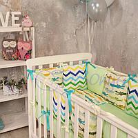 Набор в детскую кроватку Baby Design с крокодилами (6 предметов), фото 1