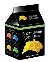 """Научные игры мини """"Выращиваем кристаллы"""" (жолтые), ТМ Ранок 12116005р, 0339"""