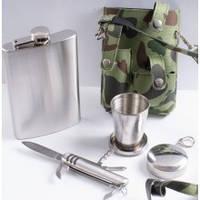 Фляга PT9-2 в чехле, стакан, нож