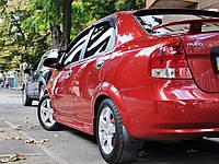 Накладки на пороги Chevrolet Aveo T200, Шевроле Авео, фото 1