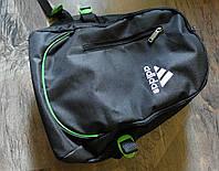 Рюкзак городской спортивный - в стиле Adidas черный
