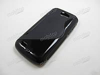 Полимерный TPU чехол Samsung Galaxy W i8150 (черный)