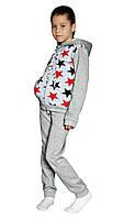 Теплый детский спортивный костюм трехнить