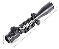 Оптический прицел 3-9x40EG, переменная кратность, подсветка сетки, универсальное крепление 11/21мм в комплекте