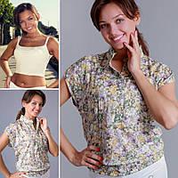 Блуза из батиста с топом XL