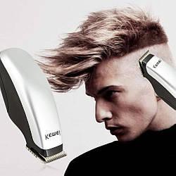 Компактный триммер для волос, машинка для стрижки бороды Kemei KM-666